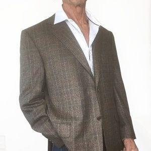 Canali Wool Sport Coat Blazer Jacket 48R Lined